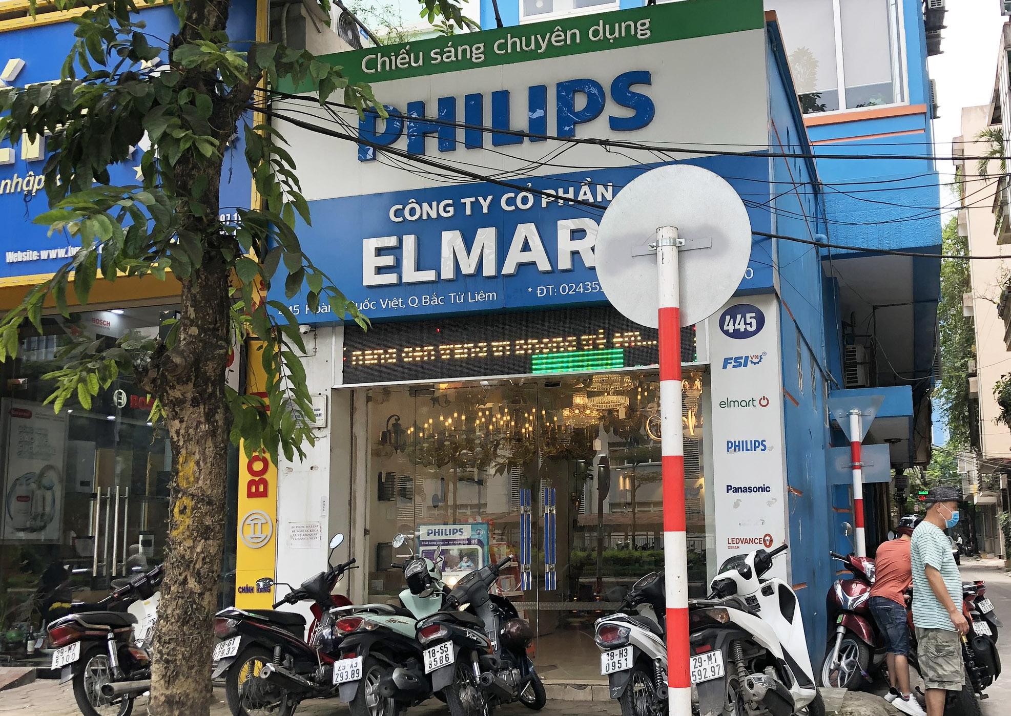 Cửa hàng đèn trang trí ELMART tại 445 Hoàng Quốc Việt