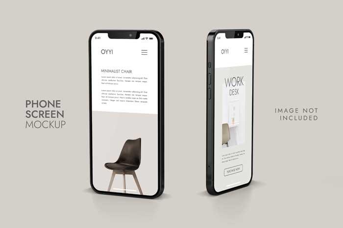 Phone And Screen Ui Ux App Mockup
