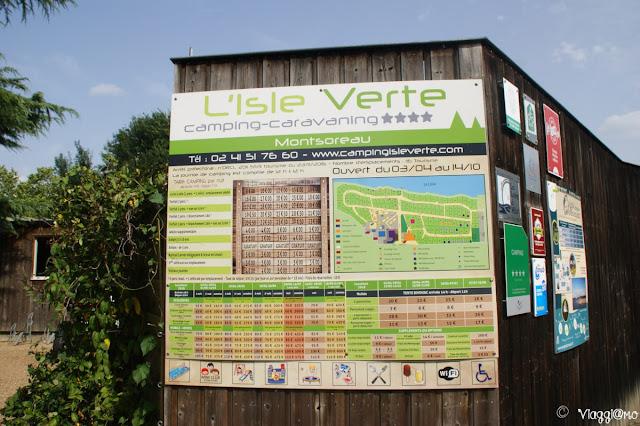 Il bel campeggio in riva alla Loira di Monsoreau