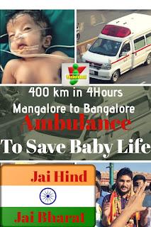 Ambulance man saves baby's life