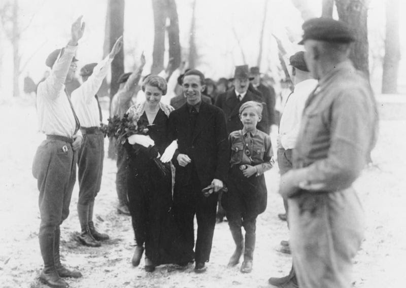 Ultimate Collection Of Rare Historical Photos. A Big Piece Of History (200 Pictures) - Joseph Goebbels on his wedding day