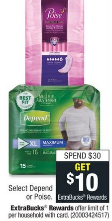 CVS Deal on Poise Active Collection $0.73 - 8/18-8/24