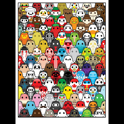 "Tiny Ghost ""Forever Haunted"" Print by Reis O'Brien x Bimtoy"