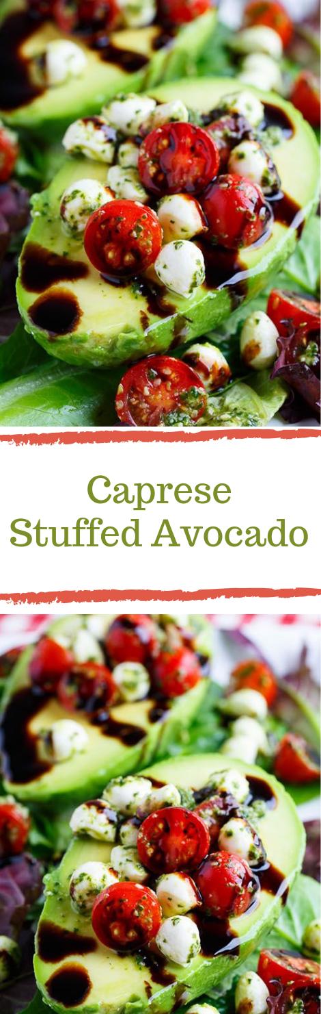 Caprese Stuffed Avocados #avocado #diet