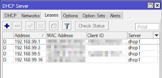 Daftar ip address dhcp
