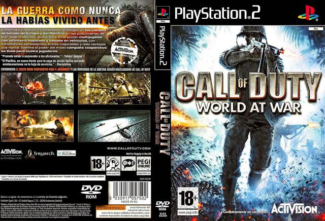 """Descargar Call of Duty 5: World at War Final Fronts ps2 iso NTSC-PAL: (abreviado comúnmente como Final Fronts) es un videojuego de disparos en primera persona del tipo """"bélico"""" desarrollado por Rebellion Develop ments. Fue lanzado en Norteamérica el 11 de noviembre de 2008."""