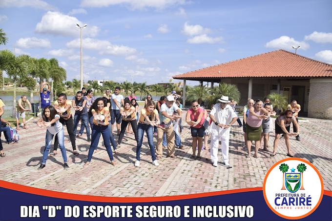"""NUCA / Ação Social de Cariré promoveram o Dia """"D"""" do Esporte Seguro e Inclusivo com a participação de jovens e idosos"""