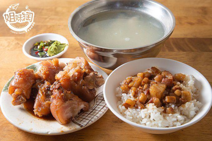 熱河街上40年𩼣魚湯老店,滷豬腳香氣四溢又平價,南部口味肉燥飯僅$20,極推三民區銅板美食-阿宏𩼣魚湯