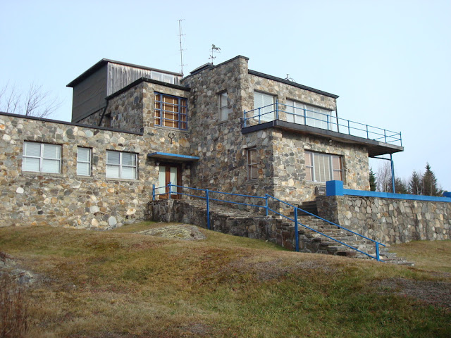 """The Observatory"" at Orgonon in Rangeley, Maine (completed 1948)"