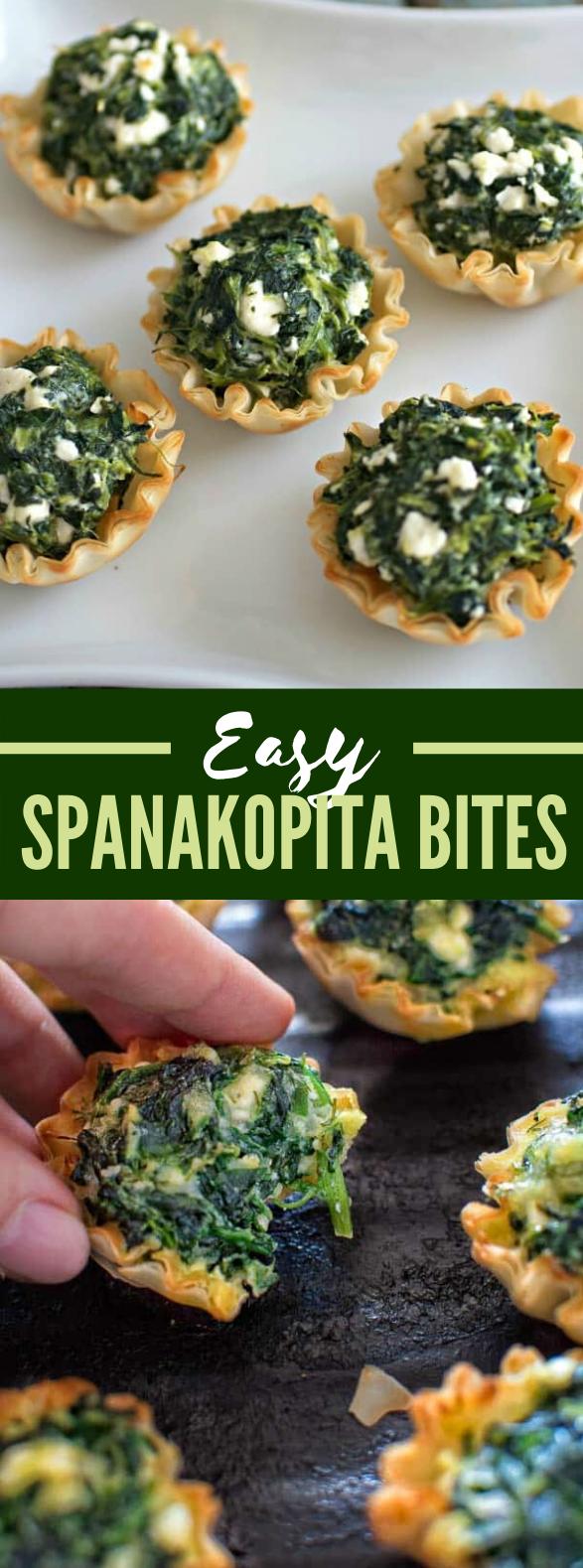 EASY SPANAKOPITA BITES #vegetarian #appetizers