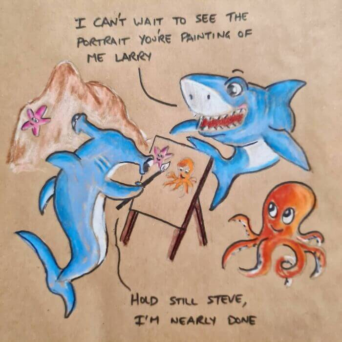 07-Shark-portrait-sandwichbagdad-www-designstack-co