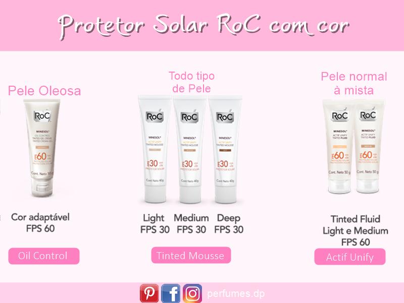Protetor Solar RoC Minesol com cor
