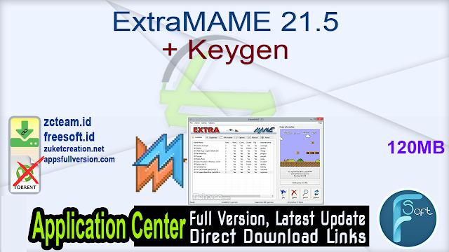 ExtraMAME 21.5 + Keygen_ ZcTeam.id