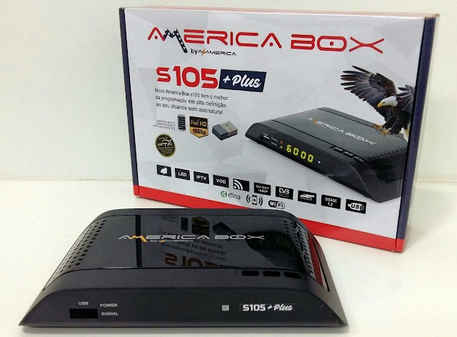 AMERICABOX S105 PLUS NOVA ATUALIZAÇÃO V1.28 - 08/06/2019