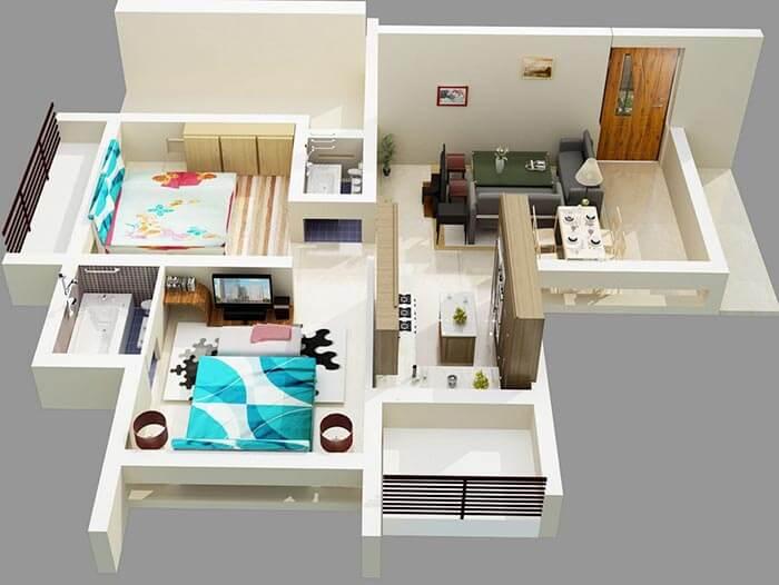 2+1 müstakil ev projeleri