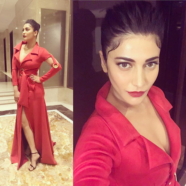 Shruti Haasan Looks Red Hot In This Latest Pic