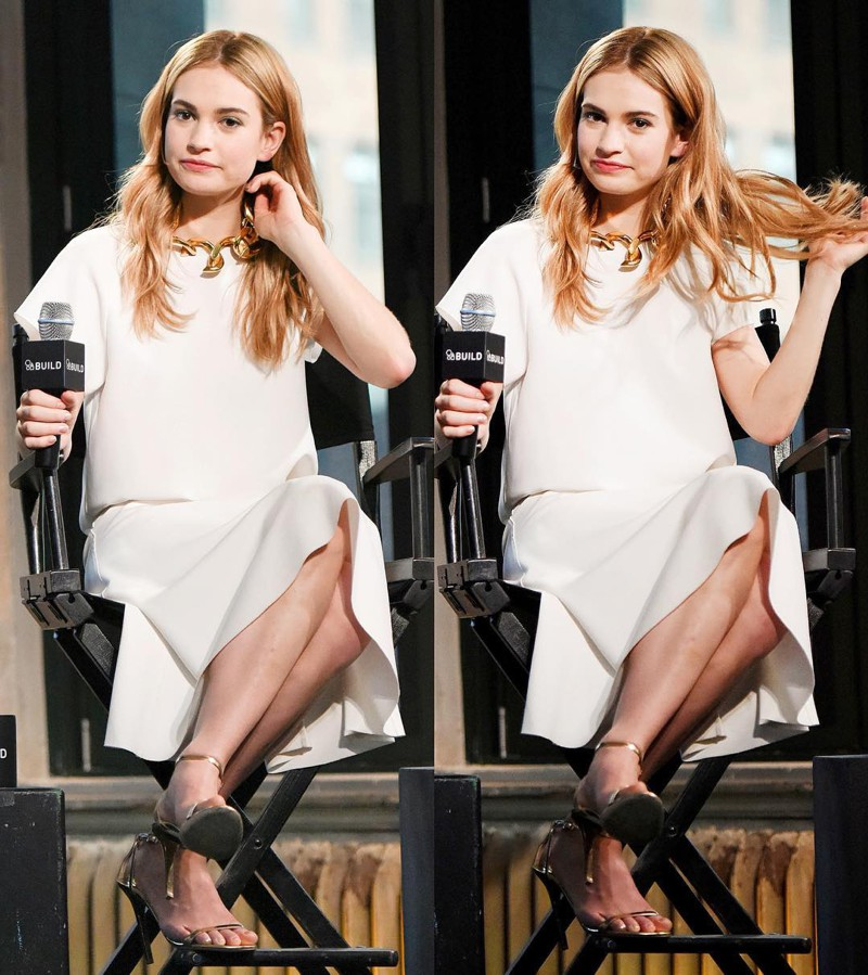 Lily James looks