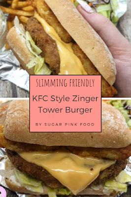 Slimmming world friendly kfc zinger tower fakeaway recipe