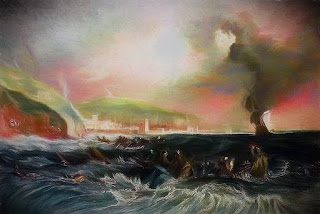 Storm Off Whitehaven Harbour by J.M.W. Turner, 1840