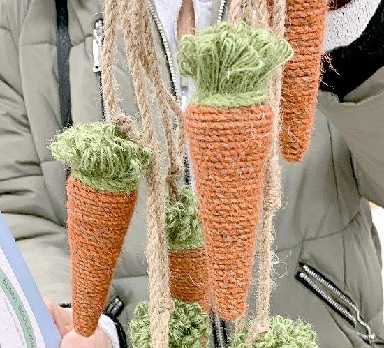 DIY Jute Carrots for Spring