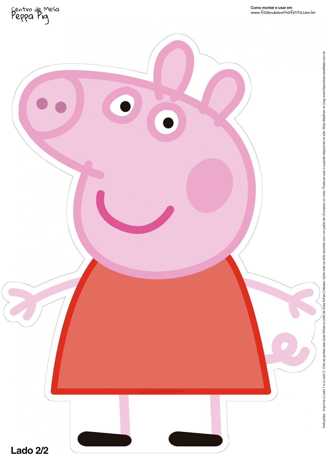 graphic relating to Pig Printable known as Peppa Pig Cost-free Printable Centerpieces. - Oh My Fiesta! in just