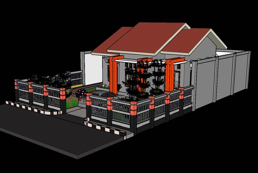 Contoh gambar rumah modern trap 3 keren.