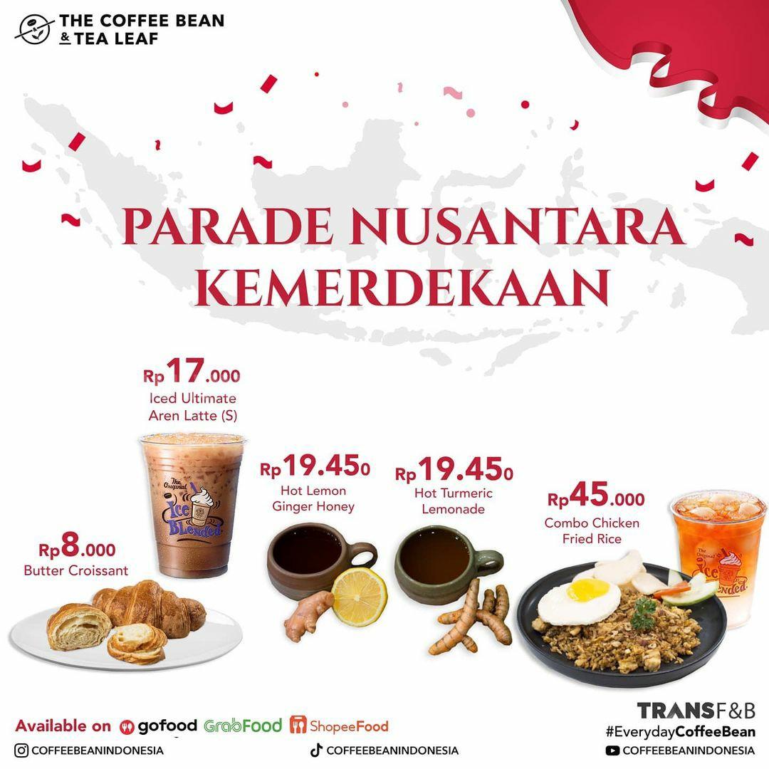 The Coffee Bean Promo Parade Nusantara Kemerdekaan - Harga mulai 8 Ribuan!