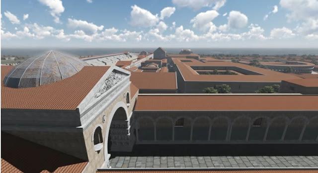 Τριδιάστατη αναπαράσταση της πόλεως της Θεσσαλονίκης και του συγκροτήματος του παλατιού του Γαλέριου κατά τον 4ο αιώνα μ.Χ.