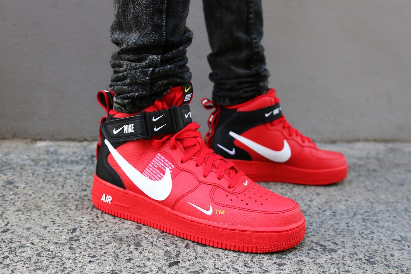 detailed look ea93d 86360 First Look  Nike Air Force 1 Mid  07 LV8 Utility – Red