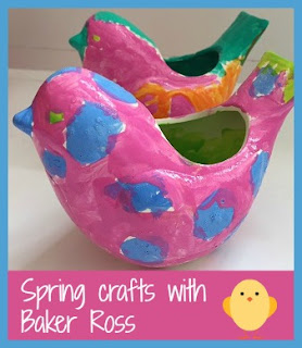 Spring crafts for children with Baker Ross