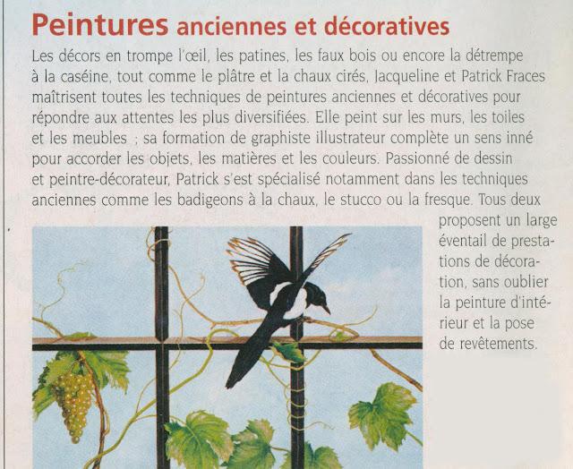 trompe-l'oeil, art, magazine, article, revue décoration, peinture