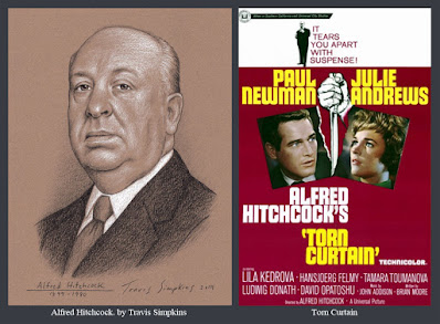 Alfred Hitchcock. The Master of Suspense. Film Director. Torn Curtain. by Travis Simpkins