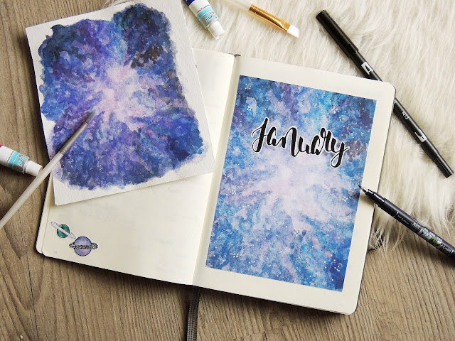 bullet journal monthly cover page glitter is the new black