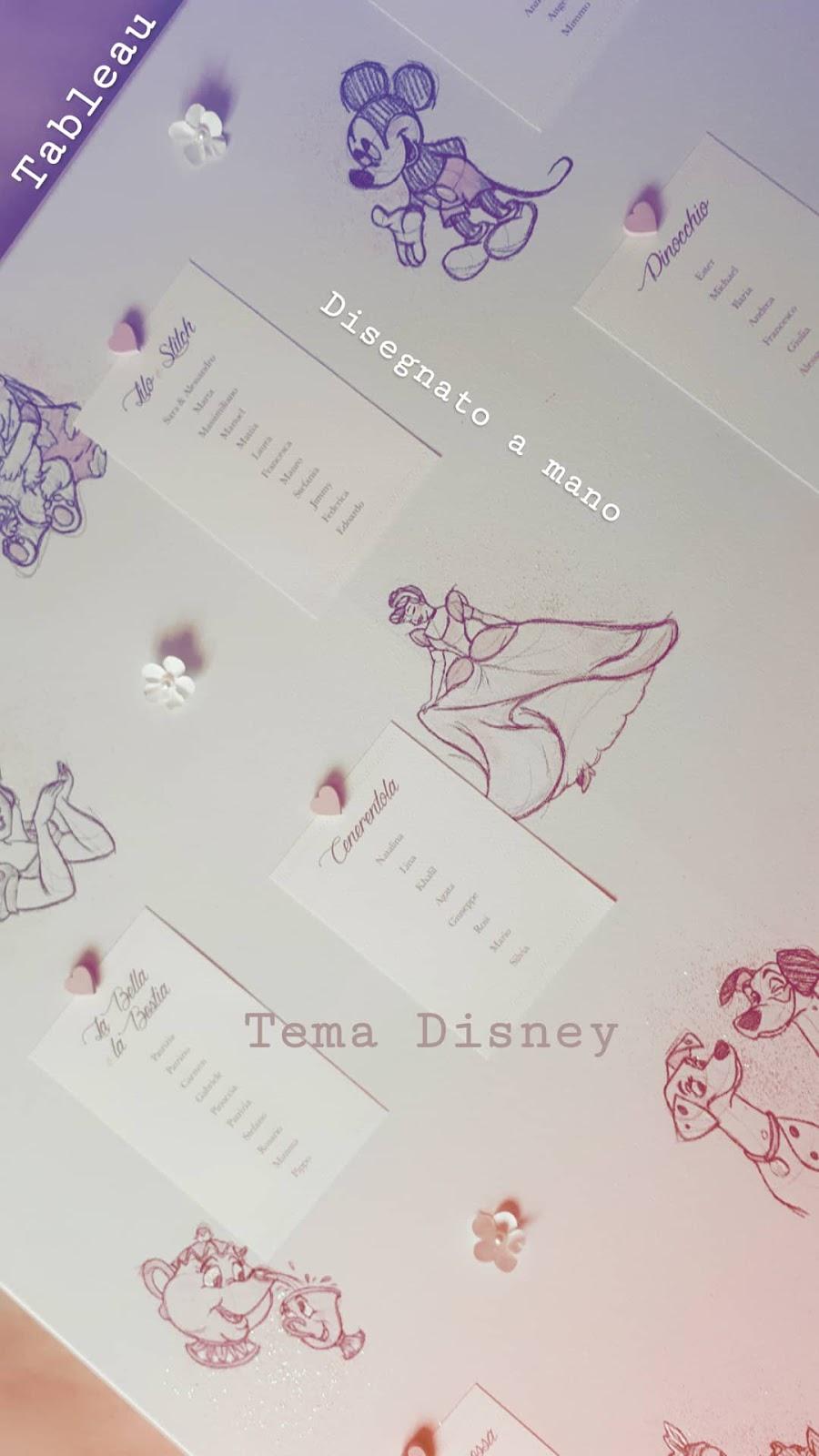 Segnaposto Matrimonio Disney.Un Matrimonio Da Favola Disney