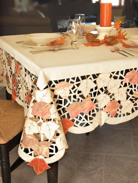 Autumn Vanilla Picture Autumn Tablecloth