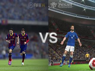 PES 2014 vs FIFA 14   Pilih yang mana ?