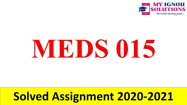 MDV 115  Solved Assignment 2020-21