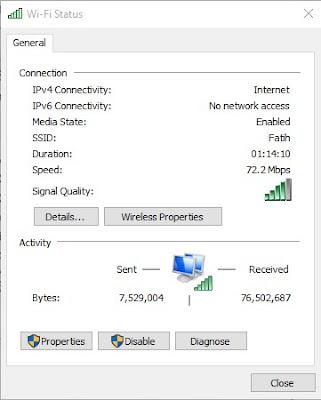 Cara Memperbaiki Kesalahan IPv6 No Network Access