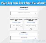 Cara Mengatasi Widget Blog Tidak Bisa diHapus Atau diPindah