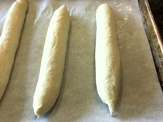 Cuban Bread {Pan Cubano de Manteca} shaped before baking