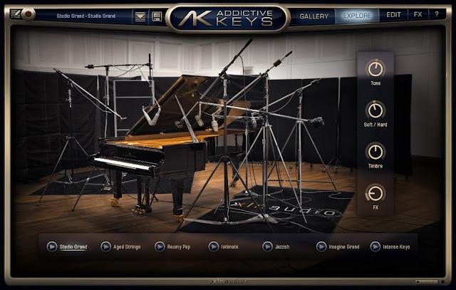 Interface do Plugin XLN Audio - Addictive Keys Complete 1.1.8