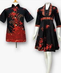 Model Baju Batik Pesta pasangan remaja
