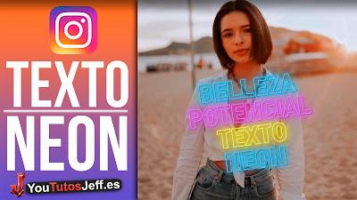 texto neon instagram