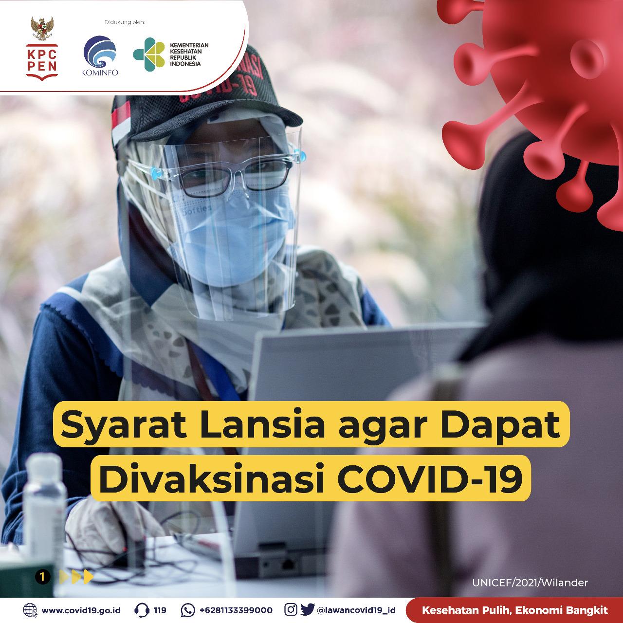 Syarat Lansia Agar Dapat Divaksinasi COVID-19