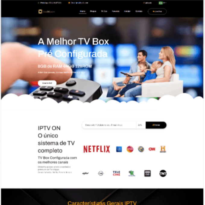 Site para Revenda de IPTV