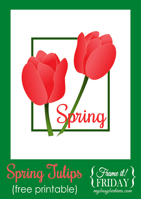 Spring Tulips printable