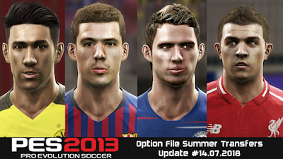 PES 2013 Next Season Patch 2019 Option File 14/07/2018 Season 2018/2019