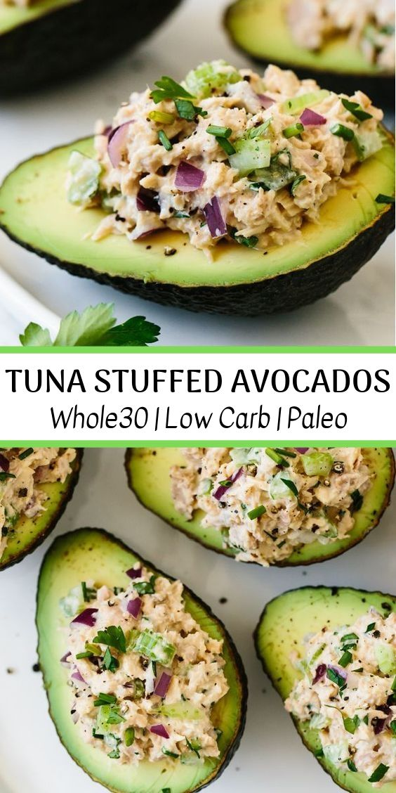 Tuna Stuffed Avocados