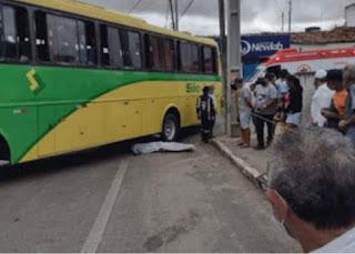 Em  Remígio, na Paraíba homem  de 33 anos morre após ser atropelado por ônibus