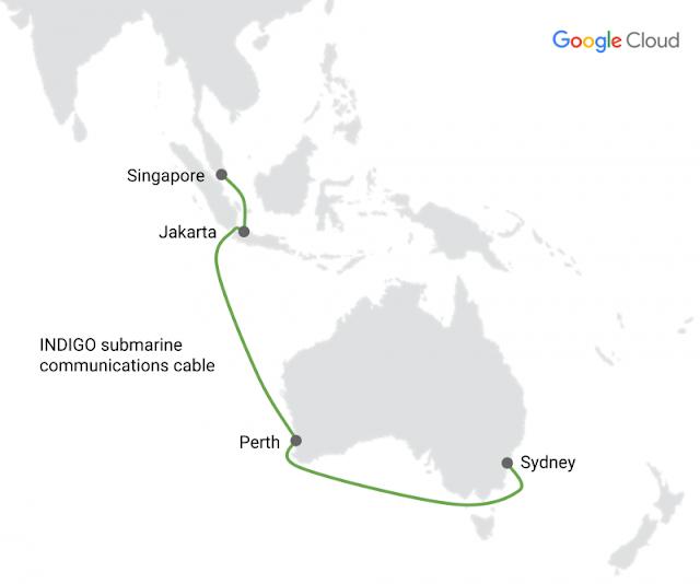 google sub marine cable Singapore , Jakarta , Perth Sidney